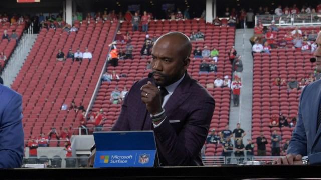 ESPN Monday Night Football Countdown host Louis Riddick