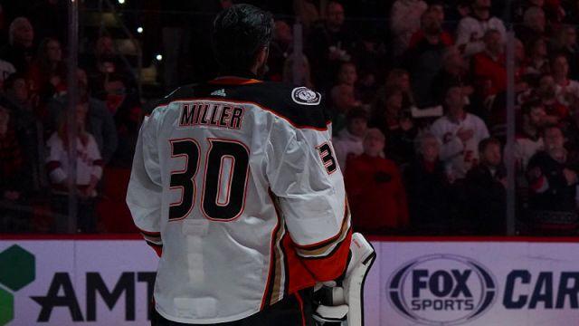 Anaheim Ducks goaltender Ryan Miller