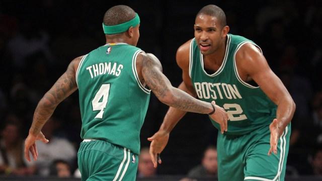 Former Boston Celtics Isaiah Thomas and Al Horford