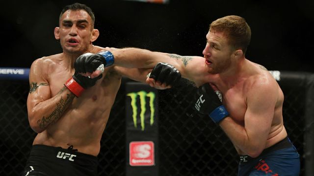 UFC fighters Tony Ferguson and Justin Gaethje