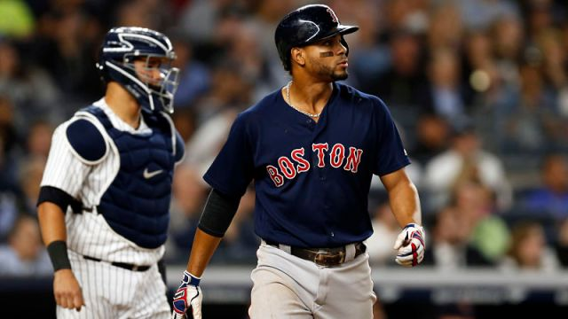 New York Yankees catcher Gary Sanchez and Boston Red Sox shortstop Xander Bogaerts