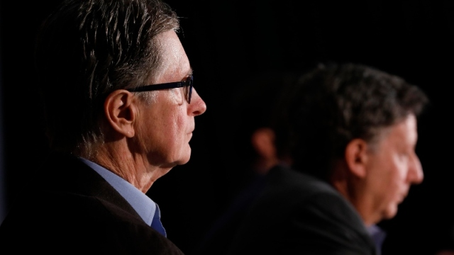 Liverpool FC owner John Henry (left) and chairman Tom Werner