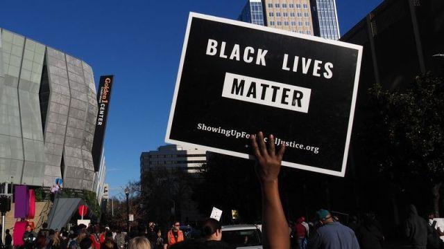 Black Lives Matter Sign NBA