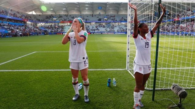 United States midfielder Julie Ertz, defender Crystal Dunn