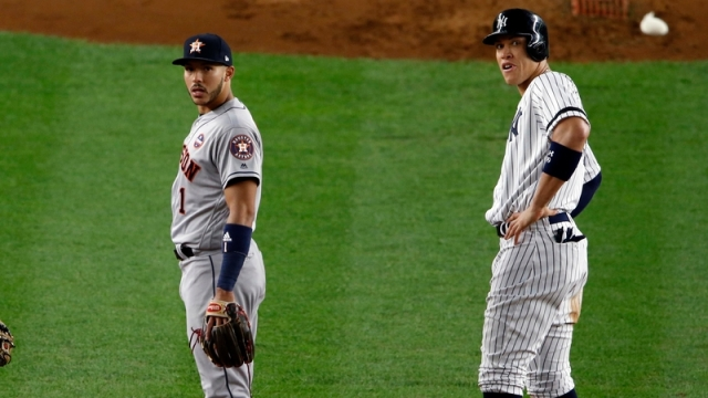 Yankees OF Aaron Judge, Astros SS Carlos Correa