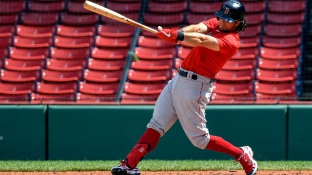 Boston Red Sox left fielder Andrew Benintendi
