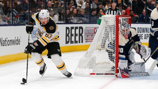Boston Bruins left wing Brad Marchand (63)