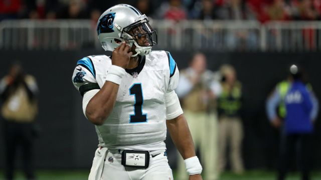 New England Patriots quarterback Cam Newton