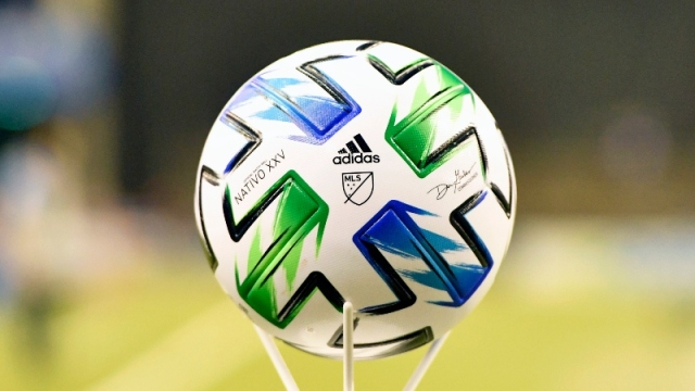 General view of an MLS game ball