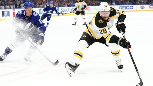 Boston Bruins forward Ondrej Kase