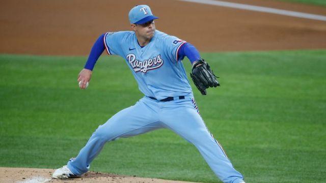 Texas Rangers pitcher Corey Kluber