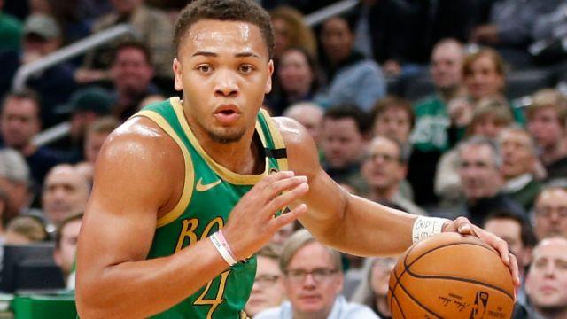 Boston Celtics point guard Carsen Edwards