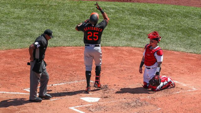 Baltimore Orioles right fielder Anthony Santander