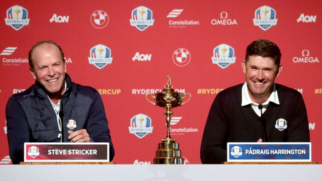 Professional Golfers Steve Stricker, Padraig Harrington