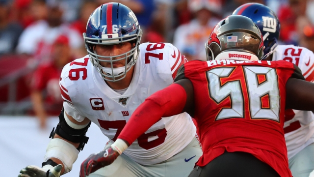 New York Giants offensive tackle Nate Solder