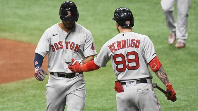 Boston Red Sox's Xander Bogaerts And Alex Verdugo