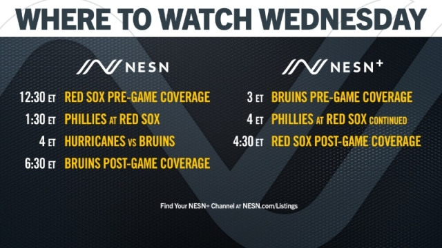 NESN Red Sox, Bruins schedule for Aug. 19