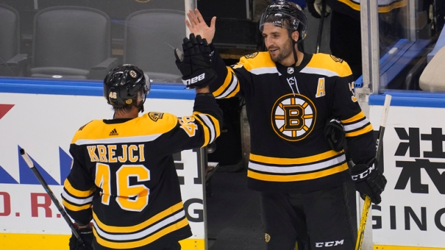 Boston Bruins Centers David Krejci And Patrice Bergeron