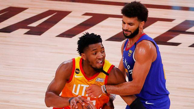 Utah Jazz guard Donovan Mitchell and Denver Nuggets guard Jamal Murray