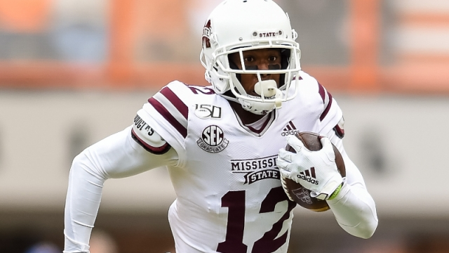 Mississippi State Bulldogs wide receiver Isaiah Zuber