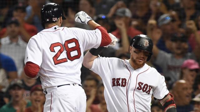 Boston Red Sox's J.D. Martinez And Christian Vazquez