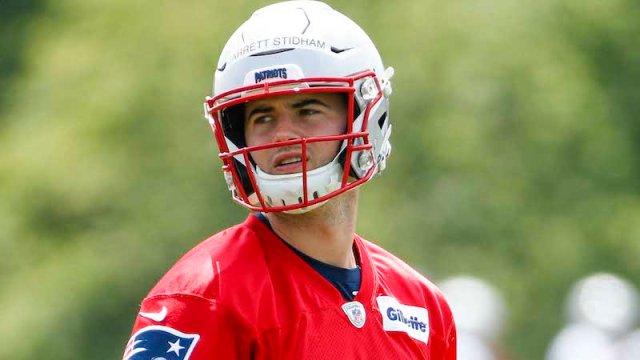 Patriots quarterback Jarrett Stidham