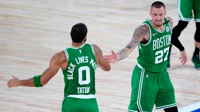 Boston Celtics' Jayson Tatum And Daniel Theis