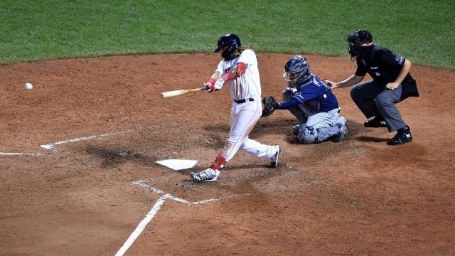 Boston Red Sox infielder Jonathan Arauz
