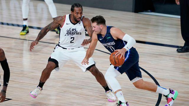 Los Angeles Clippers forward Kawhi Leonard and Dallas Mavericks guard Luka Doncic