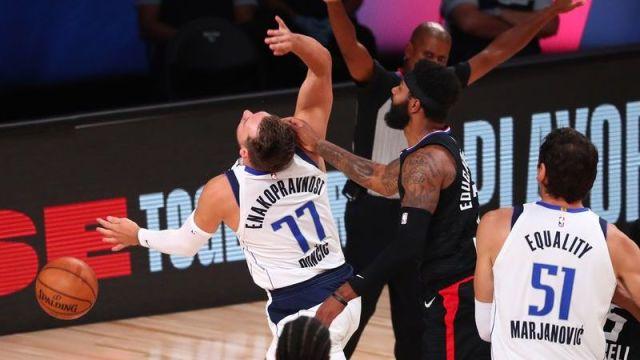 Dallas Mavericks guard Luka Doncic, Los Angeles Clippers forward Marcus Morris Sr.