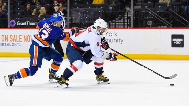 New York Islanders center Mathew Barzal and Washington Capitals left wing Alex Ovechkin