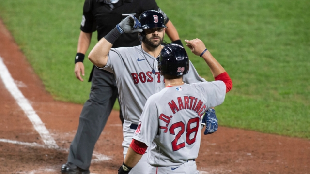 Boston Red Sox's J.D. Martinez And Mitch Moreland