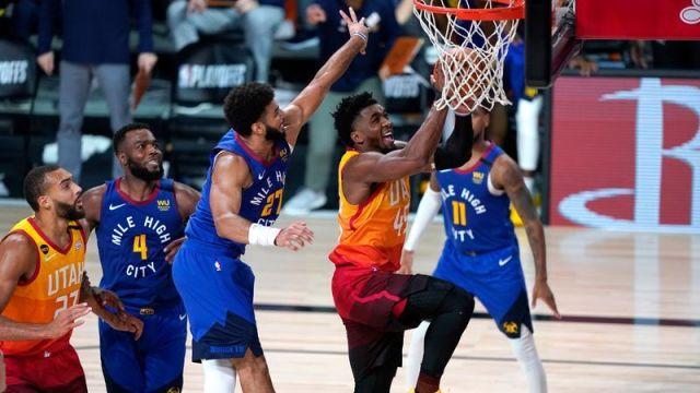 Utah Jazz's Donovan Mitchell, Denver Nuggets Jamal Murray