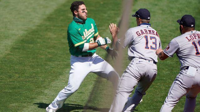 Oakland Athletics center fielder Ramon Laureano