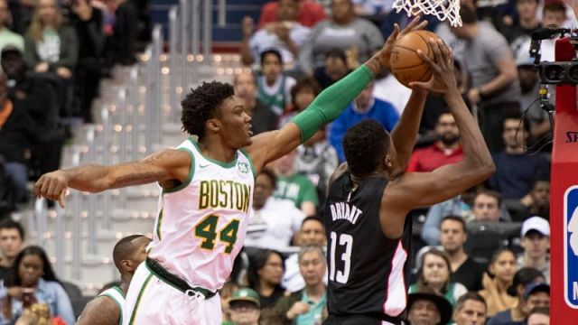 Boston Celtics center Robert Williams III and Washington Wizards center Thomas Bryant
