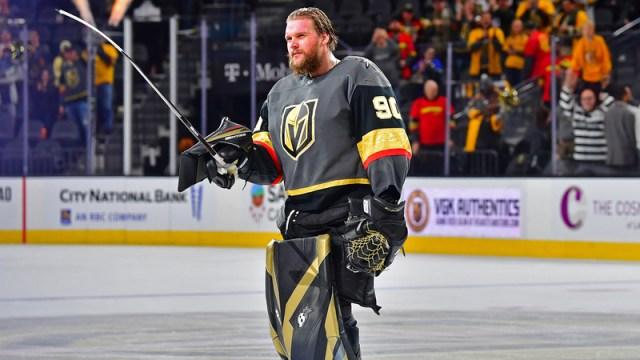 Vegas Golden Knights Goalie Robin Lehner