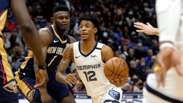 New Orleans Pelicans forward Zion Williamson, Memphis Grizzlies guard Ja Morant