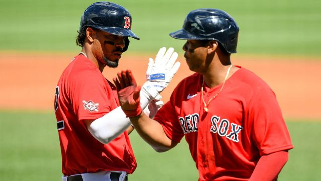 Boston Red Sox shortstop Xander Bogaerts and third baseman Rafael Devers