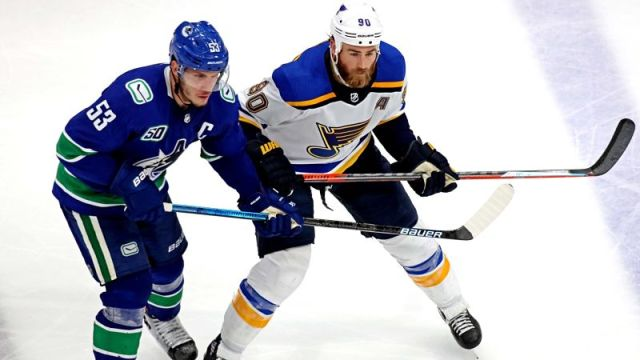 Vancouver Canucks center Bo Horvat and St. Louis Blues center Ryan O'Reilly