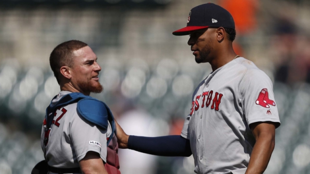 Red Sox catcher Christian Vazquez, shortstop Xander Bogaerts