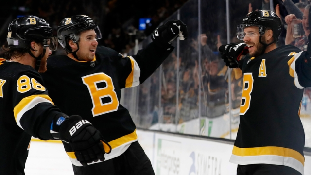 Boston Bruins' David Pastrnak