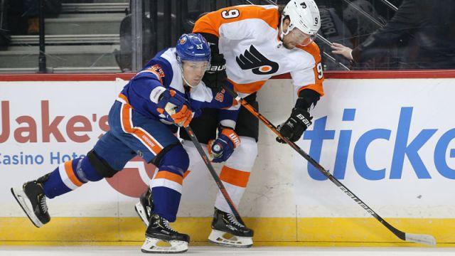 New York Islanders center Casey Cizikas and Philadelphia Flyers defenseman Ivan Provorov