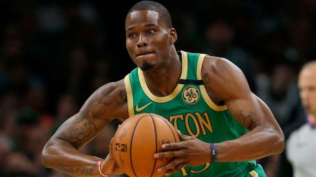 Boston Celtics point guard Javonte Green