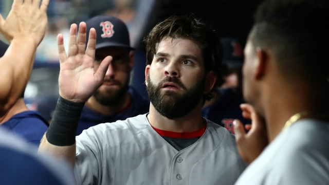 Boston Red Sox first basemen Mitch Moreland