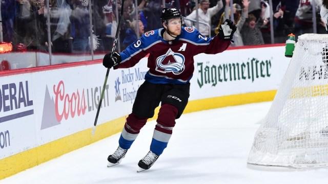 Colorado Avalanche forward Nathan MacKinnon