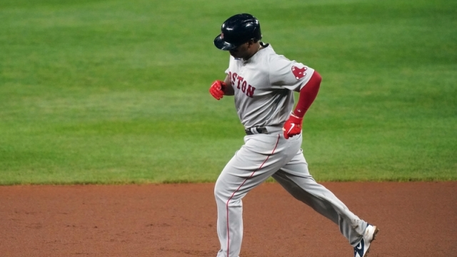 Red Sox third baseman Rafael Devers