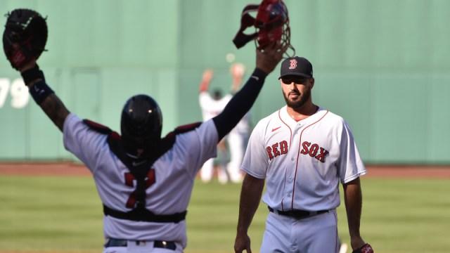 Boston Red Sox's Christian Vazquez, Brandon Workman
