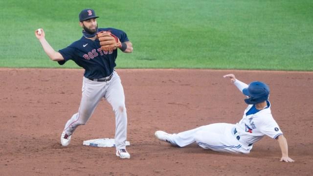 Boston Red Sox second baseman Jose Peraza