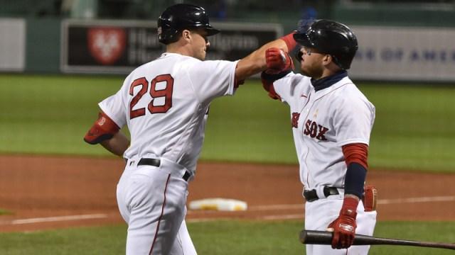 Boston Red Sox's Bobby Dalbec And Alex Verdugo