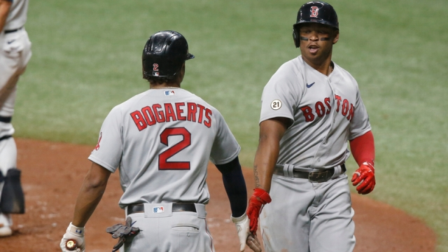 Boston Red Sox's Xander Bogaerts And Rafael Devers